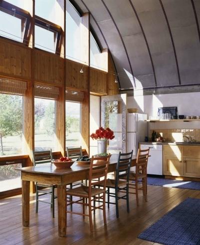 Cucina finestre legno