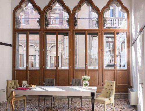 Serramenti e scuri in legno modello Restauro – palazzo Molin Del Cuoridoro (VE)